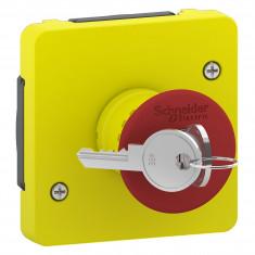 Mureva Styl - Arrêt d'urgence à clé - composable IP55 - IK08 - jaune