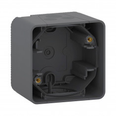 Mureva Styl - Boîte 1 poste - montage saillie - IP55 - IK08 - gris