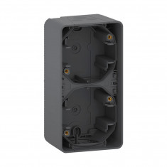 Mureva Styl - Boîte 2 postes verticaux - montage saillie - IP55 - IK08 - gris