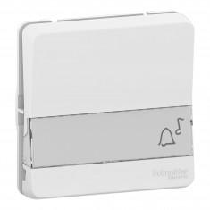 Mureva Styl - Bouton poussoir porte-étiquette - composable - IP55 - IK08 - blanc