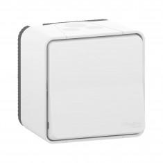 Mureva Styl - Bouton Poussoir - saillie - IP55 - IK08 connexion auto - blanc