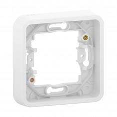 Mureva Styl - Cadre 1 poste - montage encastré - IP55 - IK08 - blanc