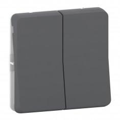 Mureva Styl - Double va et vient - composable - IP55 - IK08 - gris