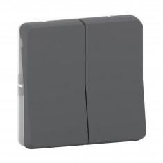Mureva Styl - Double bouton poussoir - composable - IP55 - IK07 - gris