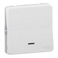 Mureva Styl - Bouton poussoir lumineux LED - composable - IP55 - IK08 - blanc