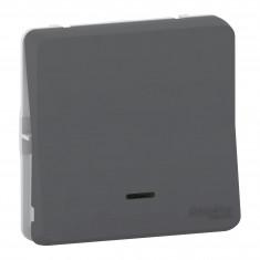 Mureva Styl - Bouton poussoir lumineux LED - composable - IP55 - IK08 - gris
