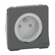 Mureva Styl - Prise de courant 2P+T à vis - composable - IP55 - IK08 - gris