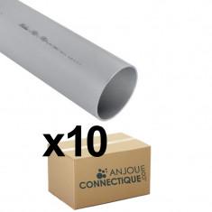Lot de 10 tubes PVC compact NF-Me - diamètre 75 mm - 4 mètres - Nicoll