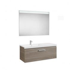 Pack Unik PRISMA 1100 - Meuble 1 tiroir, lavabo à gauche ou droite et miroir à LED