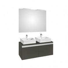 Ensemble HEIMA 1200 Meuble, miroir et appliques
