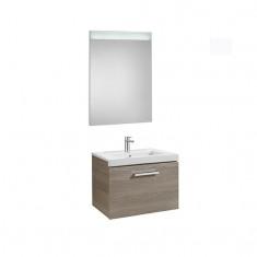 Pack Unik PRISMA 600 - Meuble 1 tiroir, lavabo et miroir à LED