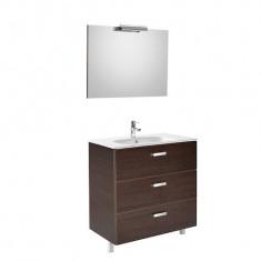 Pack Unik VICTORIA Family 800 3 tiroirs, lavabo, miroir et applique