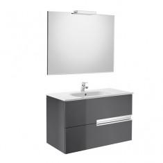 Pack Unik VICTORIA-N Family 1000 2 tiroirs, lavabo, miroir et appliques