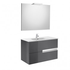 Pack Unik VICTORIA-N Family 800 2 tiroirs, lavabo, miroir et applique