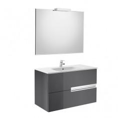 Pack Unik VICTORIA-N Family 900 2 tiroirs, lavabo, miroir et appliques