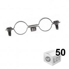 Lots de 50 Colliers de fixation Atlas double en Ø16 ou Ø18 ou Ø20 ou Ø22 - Fischer