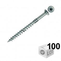 100 Vis inox Ø5 spéciales terrasse en bois Ø5x70mm ou Ø5x80mm- Fischer