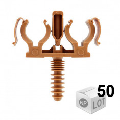 50 CLIPEO Double - Fixation pour tube cuivre Ø20 - RAM