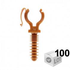 100 CLIPEO Simple - Fixation pour tube cuivre Ø14 ou Ø16 ou Ø18 ou Ø20 ou Ø25