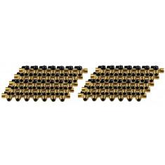 """Lot de 10 Collecteurs mini-vanne M/F 3/4"""" (20/27) - 1/2"""" (15/21) - 7 piquages M 1/2"""" (15/21)"""
