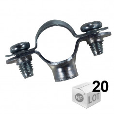 Lots de 20 Colliers de fixation Atlas simple - Ø14 ou Ø16 ou Ø18 ou Ø22 - FISCHER