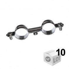 10 Collier métallique en acier double - Ø10 ou Ø12 ou Ø14 ou Ø16 - RAM