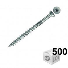 500 Vis inox A2 TX spéciales pour terrasse en bois Ø5x50mm ou Ø5x60mm - Fischer