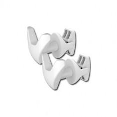 Patères en V blancs (x2) pour radiateur sèche-serviettes tubes ronds