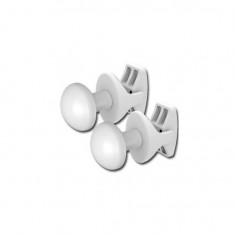 Patères rondes blanches (x2) pour radiateur sèche-serviettes tubes ronds