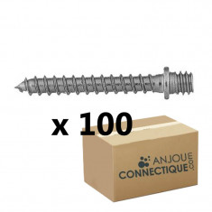 Patte à vis bois M8 - 8x80mm - 100 pièces
