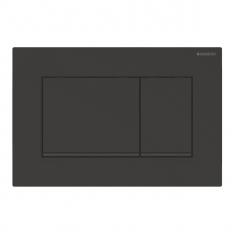 Plaque de déclenchement noir mat laqué, noir Sigma30 pour rinçage double touche - Geberit