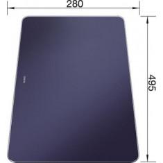 Planche à découper en verre finition bleu nuit velour mat - Blanco