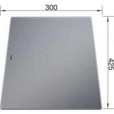 Planche à découper en verre sécurité, couleur argenté - Blanco
