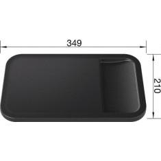 Planche à découper SmartCut en composite noir - Blanco