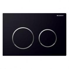 Plaque de déclenchement OMEGA 20 - Noir et chromé brillant