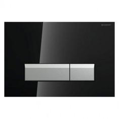 Plaque de déclenchement SIGMA 40 DuoFresh - Verre Noir/aluminium brossé