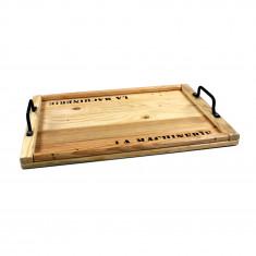 Plateau en bois de palette - Brut - 50 x 35 x 3 cm