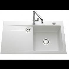 Évier de cuisine polaris mat STEMA égouttoir à droite - L 900 x l 510 x P 200 mm - sous-meuble 60 cm - Aquatop