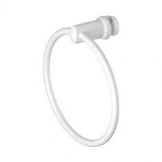 Porte-serviettes anneau blanc pour radiateur sèche-serviettes tubes plats