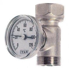 Té porte thermomètre chrome sortie collecteur PCBT Mâle-Femelle 3/4EK