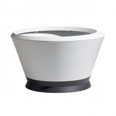 Pot IKÔNE IK2 Blanc cérusé, gris anthracite - Ø 76 x H 44,8 cm - Volume 105L