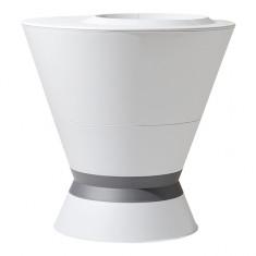 Pot haut IKONE Blanc cérusé/Gris anthracite - Ø76 x 76,4 cm - 105 L