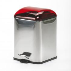 Poubelle avec pédale rouge transparent Karta