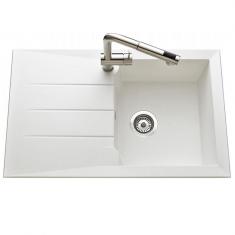 Évier de cuisine Blanc MAJORQUE - L 810 X l 500 X P 210 mm - sous-meuble 50 cm - Aquatop