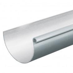 Profile gouttière PVC 33 demi-ronde en 4m - blanc