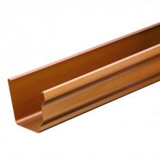 Profile gouttière PVC BEST carrée 4m - effet cuivre