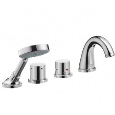 Axor Starck Puro Set de finition 4 trous thermostatique bain/douche - Chromé