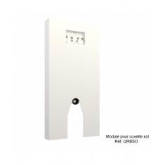 Panneau WC QR-BOX Blanc au sol - sans cuvette - Regiplast