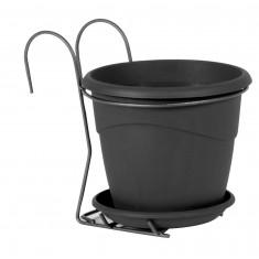Pot MARINA 2L avec support - Gris anthracite