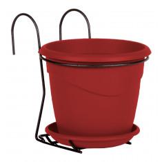 Pot MARINA 2L avec support - Rouge rubis